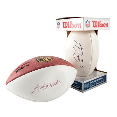 Andy Dalton, A.J. Green Autographed Cincinnati Bengals Footballs