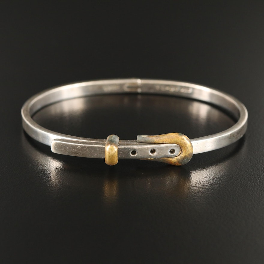 Mexican Sterling Silver Buckle Bangle
