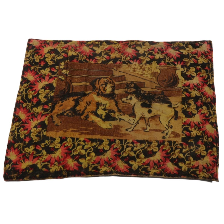 Printed Horse Hair Carriage Blanket, Late 19th to Early 20th Century