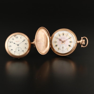 Swiss Imperial & A. Hampden American Gold Filled Pocket Watches