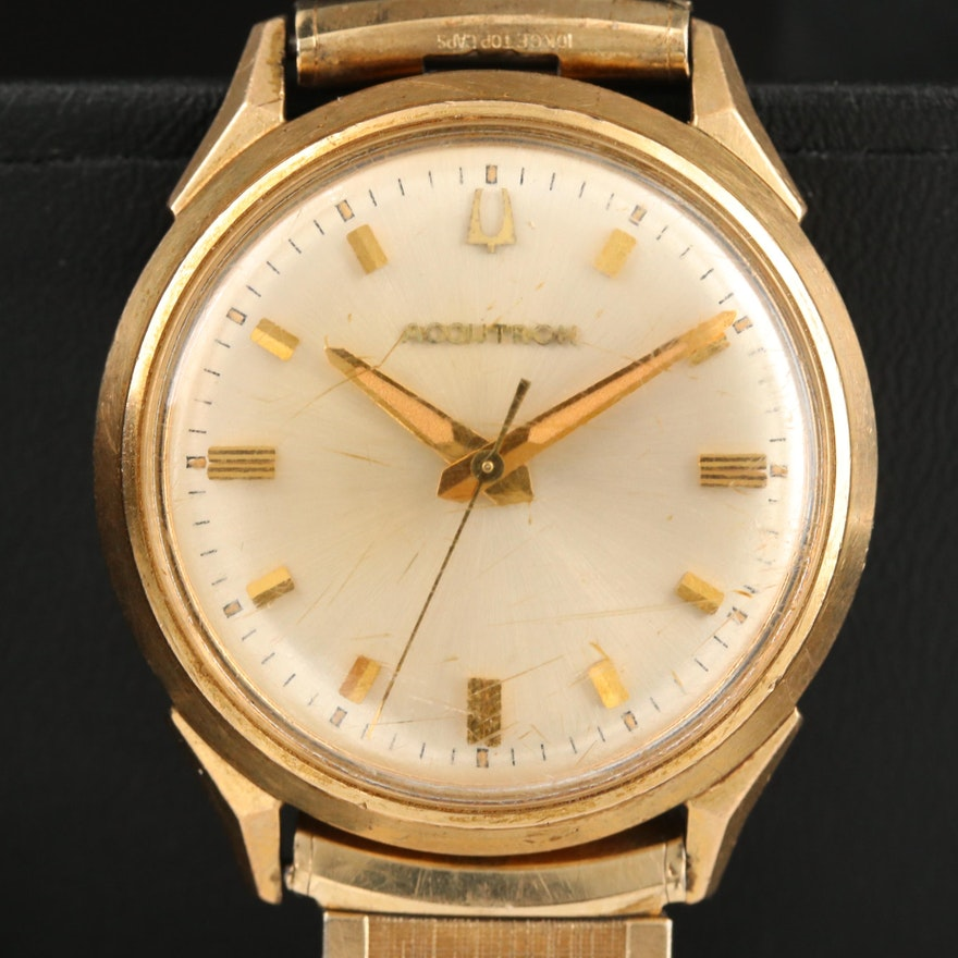 1964 Bulova Accutron 10K Gold Filled and Stainless Steel Wristwatch