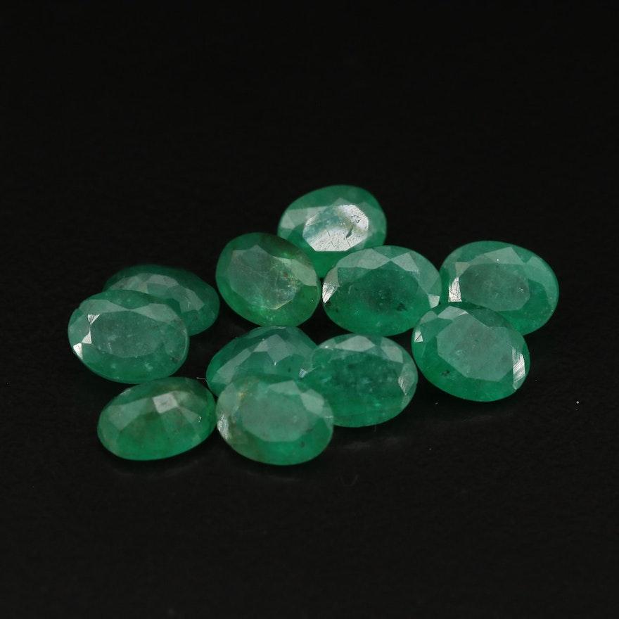 Loose 13.09 CTW Emeralds