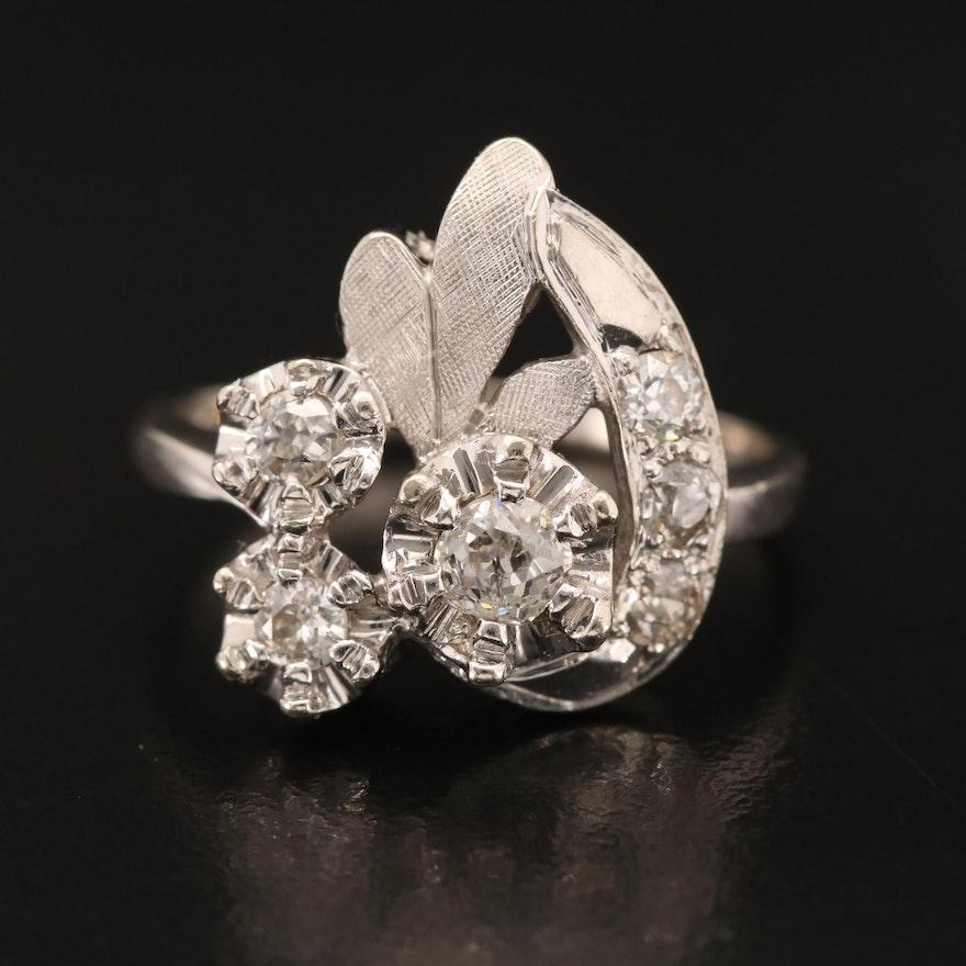 Retro 14K Diamond Ring
