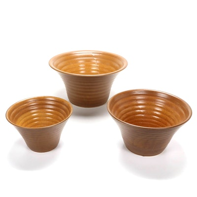 Ribbed Ceramic Nesting Bowls