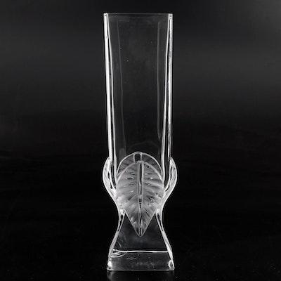 """Lalique """"Broceliande"""" Crystal Leaf Vase"""