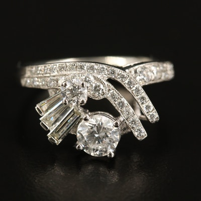Platinum 1.20 CTW Diamond Ring