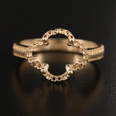 14K Open-Mount Ring