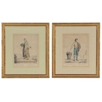 Edmé Jean Pigal Lithographs of Spanish Fashion, circa 1825