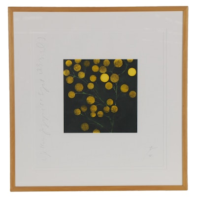"""Donald Sultan Serigraph """"Yellow Peppers,"""" 1993"""