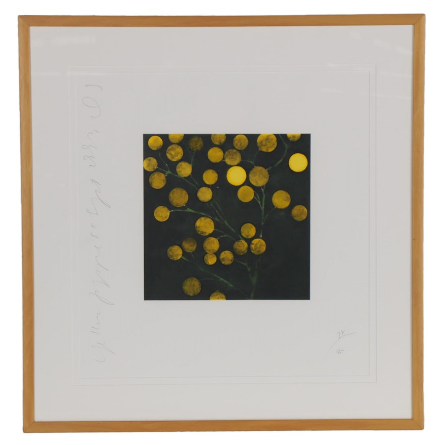 "Donald Sultan Serigraph ""Yellow Peppers,"" 1993"