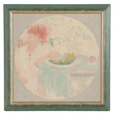 "Abstract Oil Painting ""El Dulce de Papaya,"" 1966"