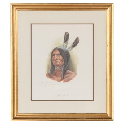 "John Ruthven Offset Lithograph ""Miami Indian II,"" 21st Century"