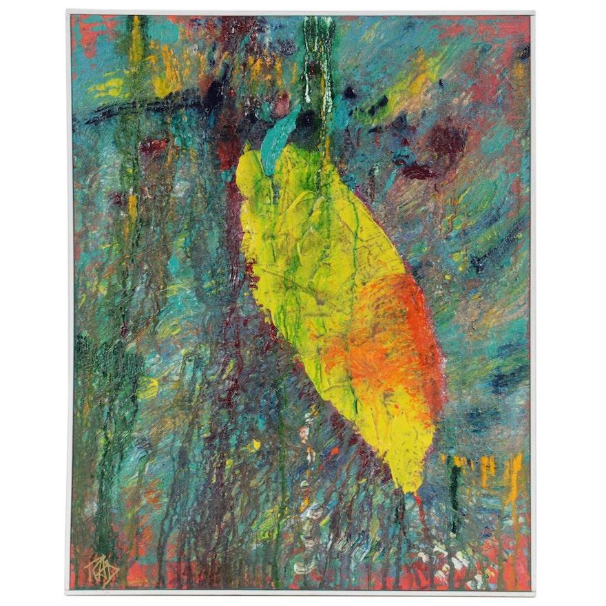 "Richard A. Dull Acrylic Painting ""Bolivian Rainbow,"" Late 20th Century"