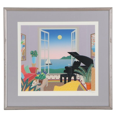 "Thomas McKnight Serigraph ""Barbados,"" Late 20th Century"