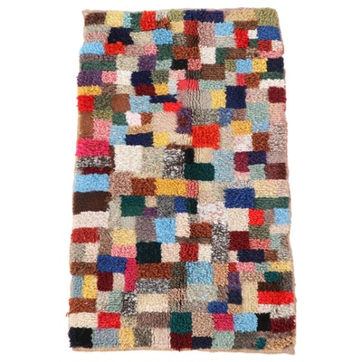 1'11 x 3'7 Hand-Knotted Moroccan Berber Accent Rug