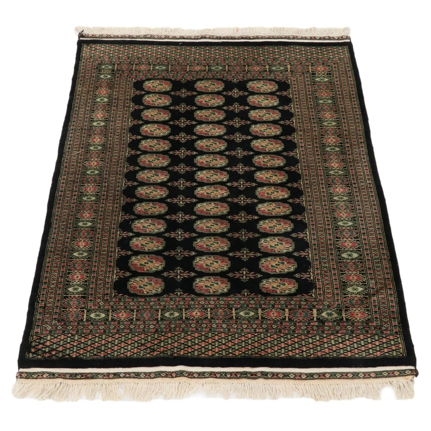 4'2 x 6'10 Hand-Knotted Bokhara Wool Rug