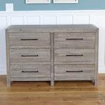 Smartstuff Modern Six-Drawer Dresser in Driftwood Finish
