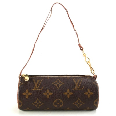 Louis Vuitton Papillon Pochette in Monogram Canvas with Leather Trim