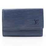 Louis Vuitton Six-Key Holder Case in Myrtille Blue Epi Leather