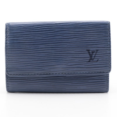 Louis Vuitton Six-Key Holder Case in Myrtille Blue Epi Leather