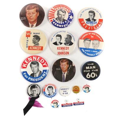 John and Robert Kennedy U.S. Presidential Pinbacks, 1960s