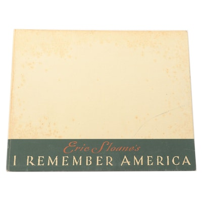 "Signed First Edition ""I Remember America"" by Eric Sloane, 1971"
