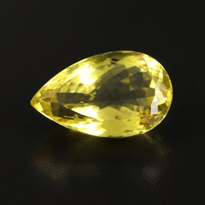 Loose 38.37 CT Pear Faceted Quartz