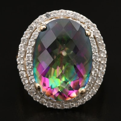 Sterling Mystic Topaz Ring