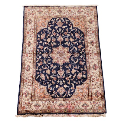 4'1 x 6'4 Hand-Knotted Persian Mashhad Area Rug