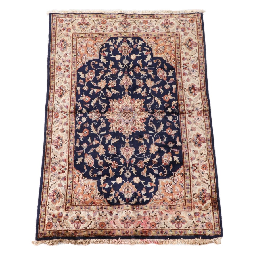 4'1 x 6'4 Hand-Knotted Persian Mashhad Area Rug