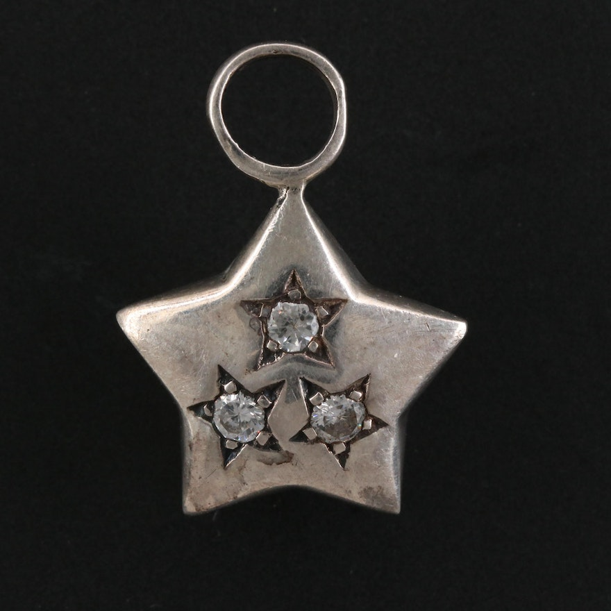 Sterling Silver Cubic Zirconia Star Pendant