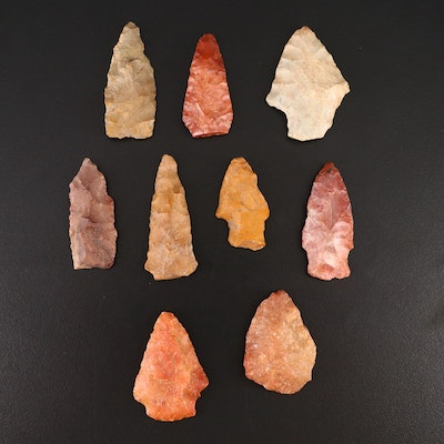 Native American Chert and Quartzite Projectile Points