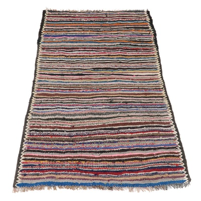 3'10 x 7'4 Handwoven Persian Kilim Rag Rug