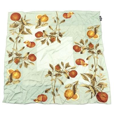 Loewe Citrus Fruit Printed Silk Scarf