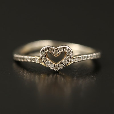 Sterling Cubic Zirconia Heart Ring