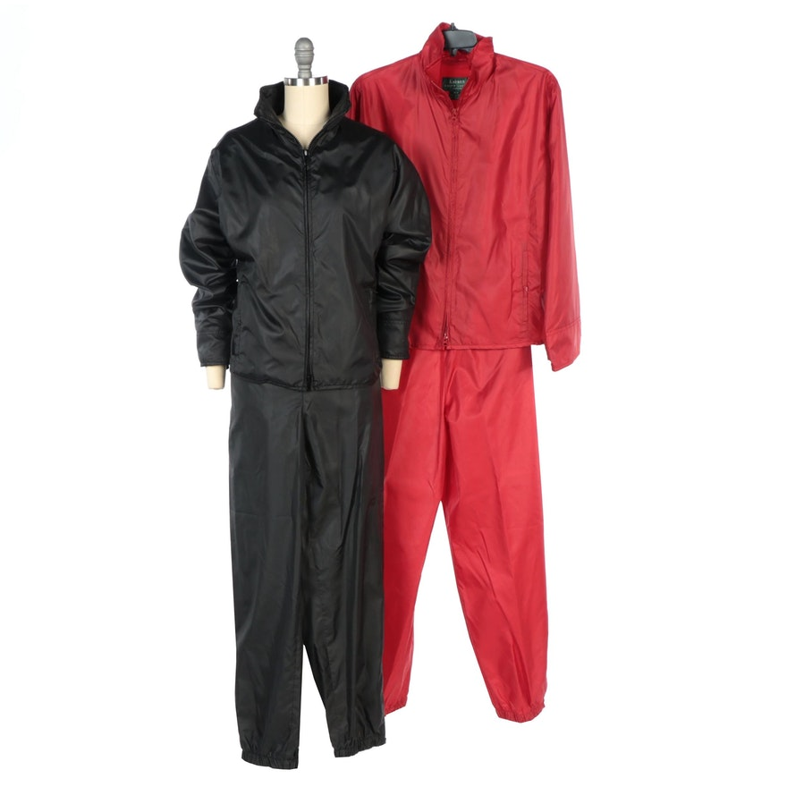 Lauren Ralph Lauren Black and Red Ski Jacket and Pants Sets