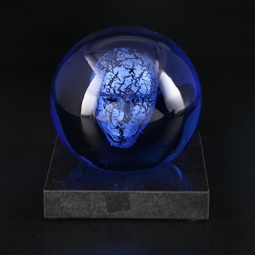 Kosta Boda Glass Sculpture of Orb, Late 20th Century