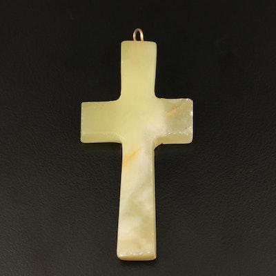 Calcite Cross Pendant