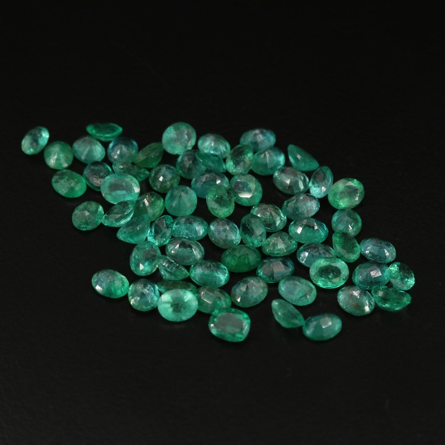 Loose 20.89 CTW Oval Faceted Emeralds