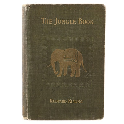 "First American Edition ""The Jungle Book"" by Rudyard Kipling, 1894"