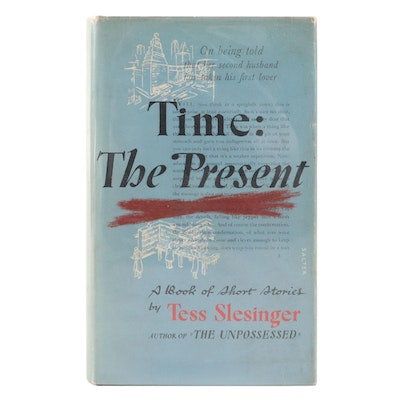 """Signed Third Printing """"Time: The Present"""" by Tess Slesinger with Letters"""