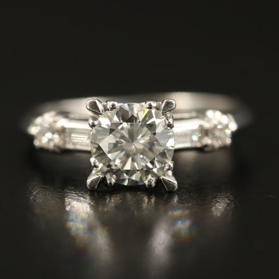 Platinum 1.36 CTW Diamond Ring