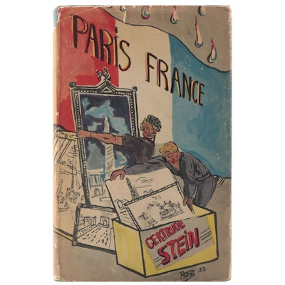 "First American Edition ""Paris France"" by Gertrude Stein, 1940"