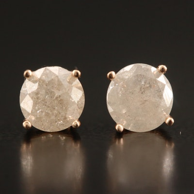 14K Gold 1.01 CTW Diamond Stud Earrings