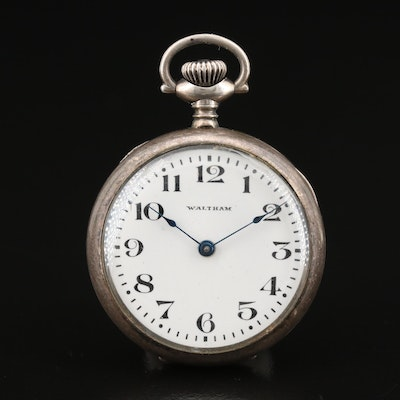 1926 Waltham Sterling Silver Pocket Watch