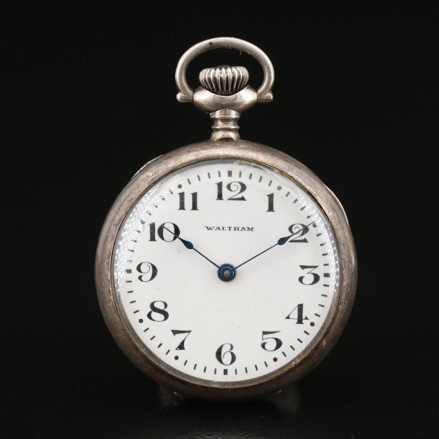 1926 Waltham Sterling Silver Pocket Watch