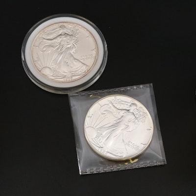 Silver Eagle Bullion Dollar Coins, 1988 and 1997