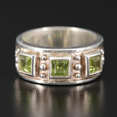 Sterling Peridot Band