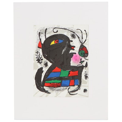 "Joan Miró Color Lithograph from ""Lithographs III,"" 1976"