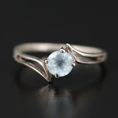 Sterling Topaz Bypass Ring